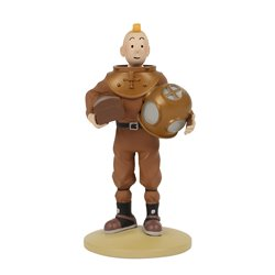 FIGURINE RESINE (COLLECTION 12CM) - TINTIN SCAPHANDRE